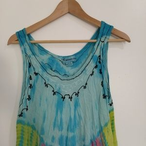 Tommy Bahama Dresses - Tie dye embroidery free size dress